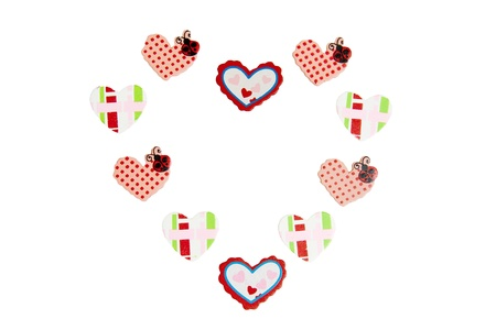 many color heart wood decoration