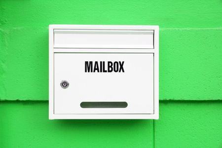 White Mailbox on the green wall