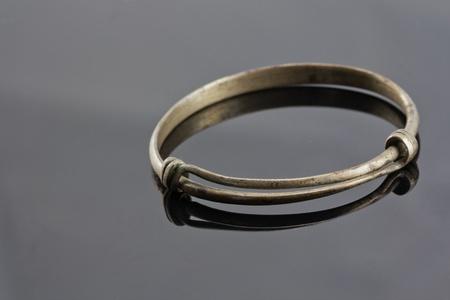 anklet: closeup of old anklet