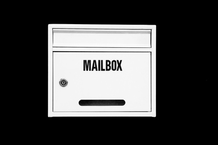 White Mailbox on the black background