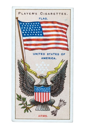 United State of America flag- CIRCA 1905: Cigarette card