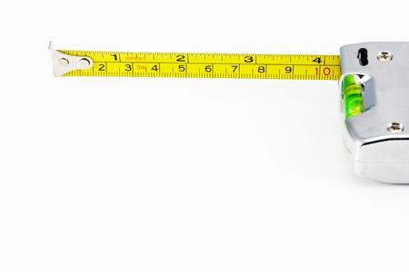 tape measure isolated on white background  Zdjęcie Seryjne