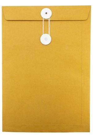 Paper Envelope isolated on white background  Zdjęcie Seryjne