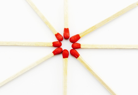 Matchsticks on white background Zdjęcie Seryjne