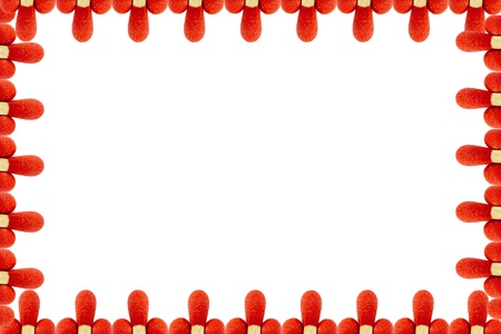 matchstick border on a white background