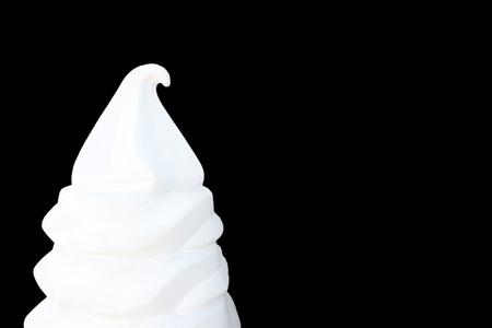White Ice cream isolated over black background