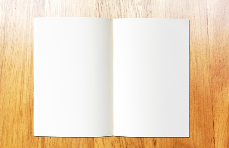 White Paper  on wood texture background