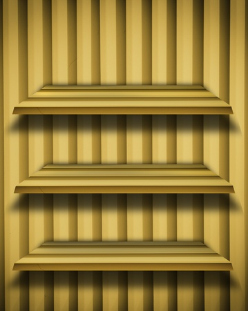 Yellow Shelf background