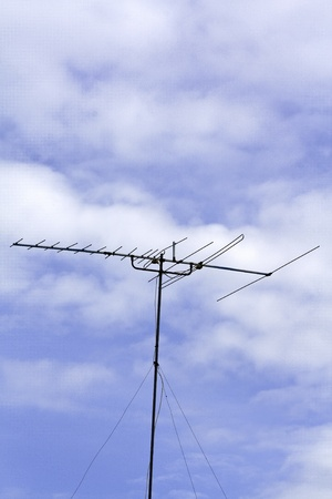 Antenna equipment with sky background