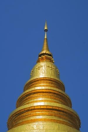 Golden Pagoda with deep blue sky Zdjęcie Seryjne