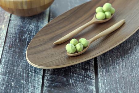 wasabi coated pistachios  Zdjęcie Seryjne