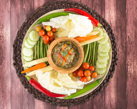 Northern Thai Green Chilli Dip with vegetables