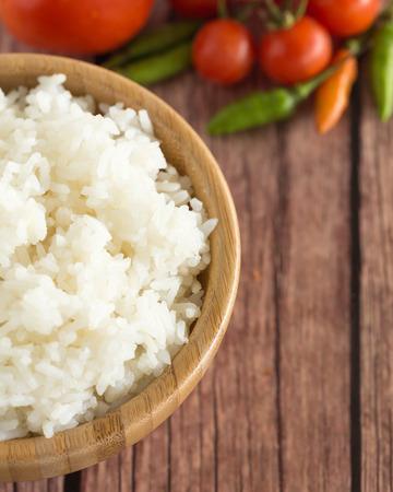 cooked Jasmine rice in bowl  Zdjęcie Seryjne