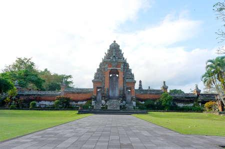 taman: Front of Taman Ayun temple  Stock Photo