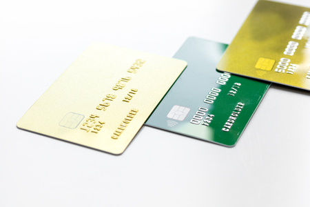 Payment composition with business credit cards at work place stock payment composition with business credit cards at work place white background close up stock photo colourmoves