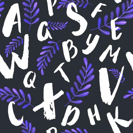 Colorfull 알파벳 집합 - 흰색 배경에 편지의 패턴.