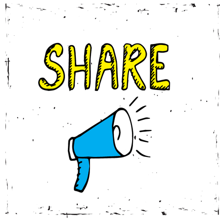 Share icon with megaphone