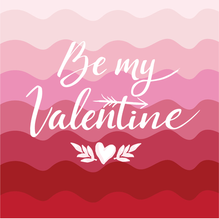 Happy Valentines Day hand drawing lettering design. Vector illustration.