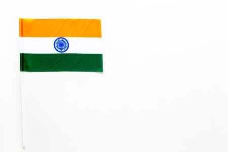 Indian flag concept. Small flag top view