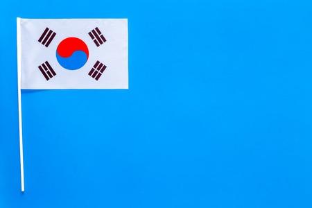 Korean flag concept. Small flag top view Reklamní fotografie - 103515595
