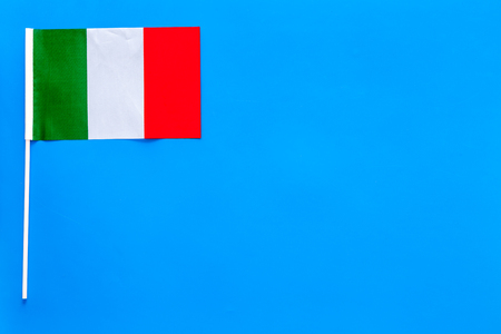 Italian flag concept. Small flag top view