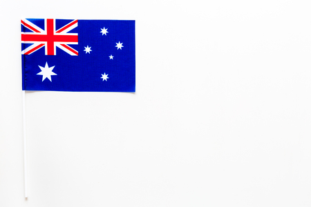 Australian flag concept. Small flag top view
