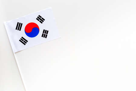Korean flag concept. Small flag top view