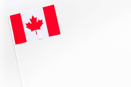 Canadian flag concept. Small flag top view