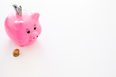 Savings. Moneybox in a shape of a pig.