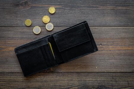 Concepto de desempleo. Falta de dinero. Foto de archivo