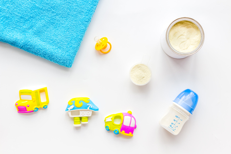 Baby care with craft toys for newborn.