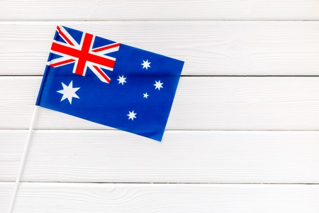 Independence Day of Australia concept with flag on white wooden background top view Reklamní fotografie