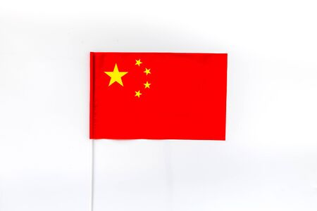 Independence Day of China concept with flag on white background top view