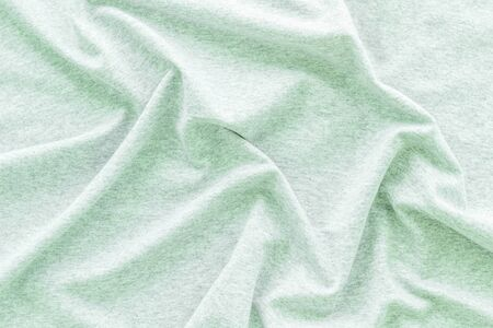 Abstract mint green fabric texture pattern top view mockup