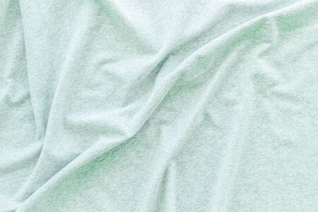 Mint green fabric texture background top view mock up Stock Photo