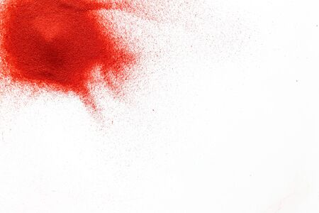 Abstract pattern with red sand texture on white background top view mockup Stock Photo