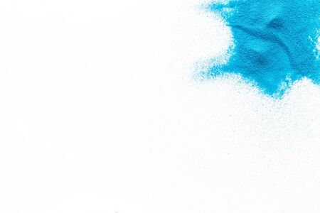 Abstract pattern with blue sand texture on white background top view mockup