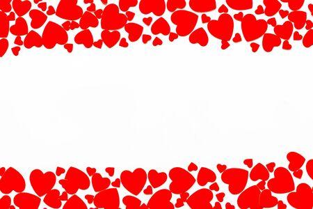 Herzrahmen für Geschenkwagen auf weißem Hintergrund Draufsicht Mock-up