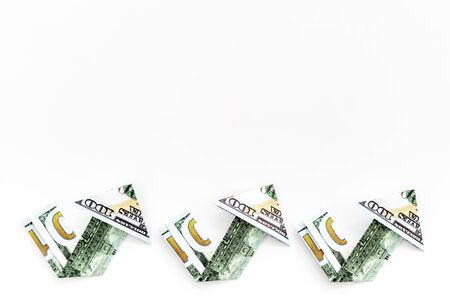 Isolated dollar chart on white background. Currency trading concept Фото со стока