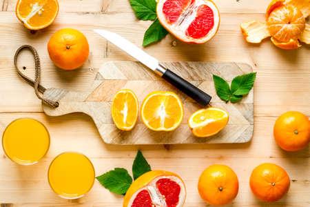 Orange juice and grapefruit preparation.