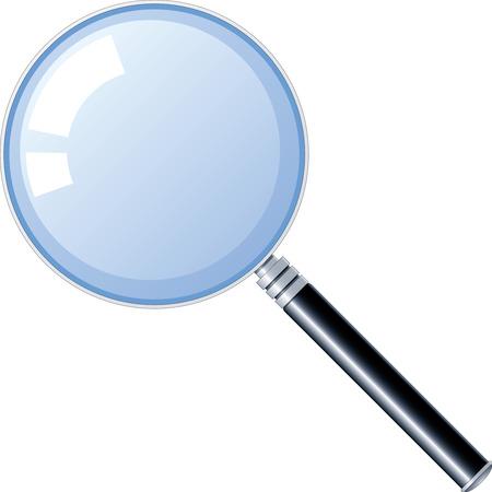 fixation: Magnifying glass Illustration