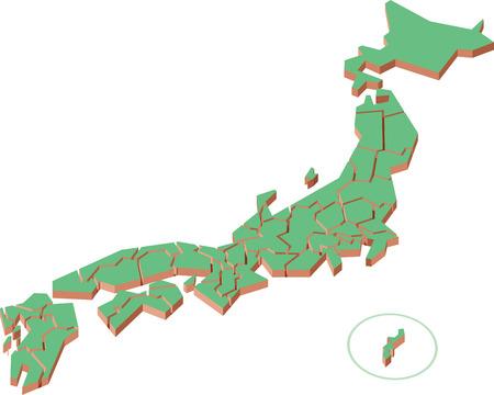 shikoku: Japan map