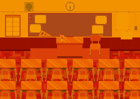 Dusk of the classroom