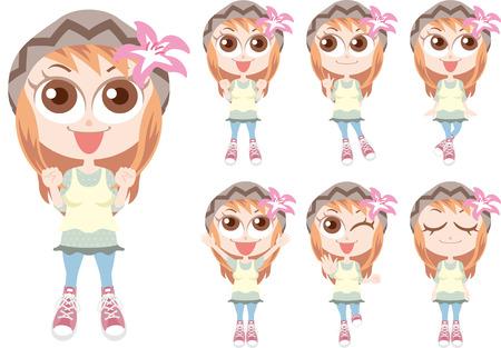 cute girl: Cute girl woman