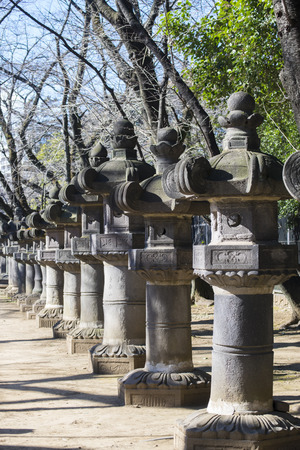 Column of the Ueno Toshogu Shrine garden lantern