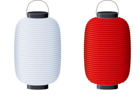 紙提灯のイラスト。  イラスト・ベクター素材