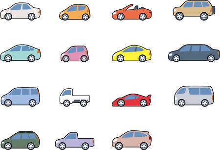 車のボディタイプ  イラスト・ベクター素材