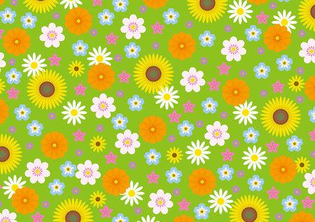 Flower garden Ilustracja