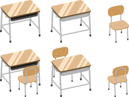 cram: Classroom desks and chairs