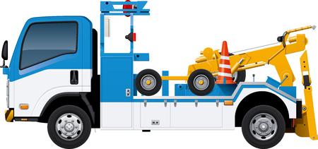 Tow truck. Vetores